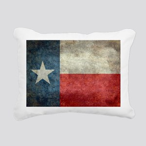 Texas state flag vintage Rectangular Canvas Pillow