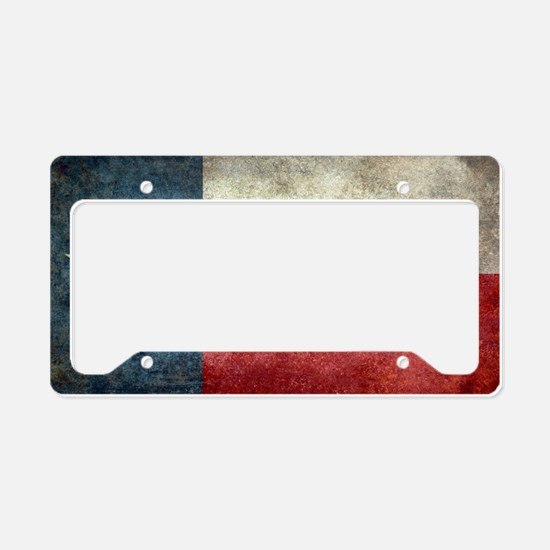 Texas state flag vintage retr License Plate Holder