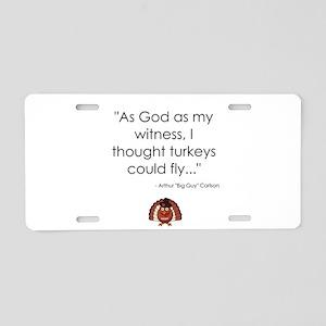 WKRP Turkeys Aluminum License Plate