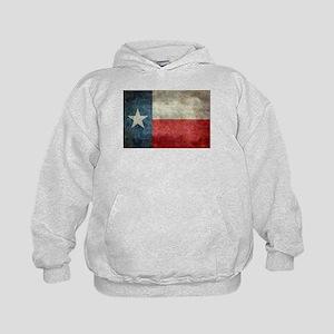 Texas state flag vintage retro style o Kids Hoodie