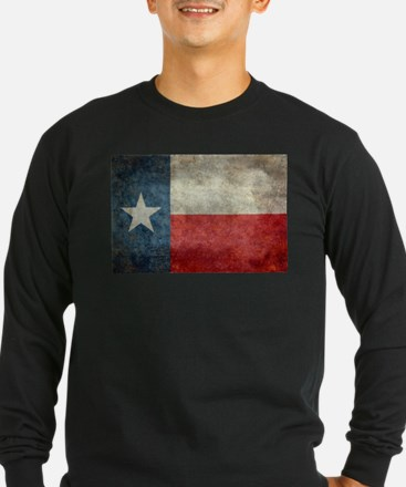 Texas state flag vintage retro Long Sleeve T-Shirt