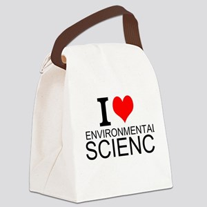 I Love Environmental Science Canvas Lunch Bag