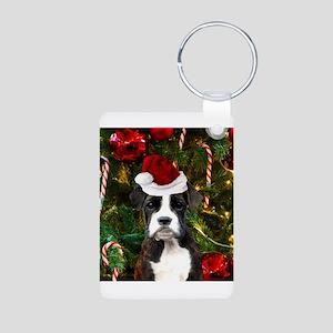 Christmas Boxer Dog Keychains