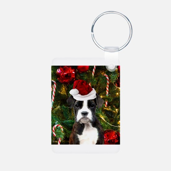 Christmas Boxer Dog Keychains