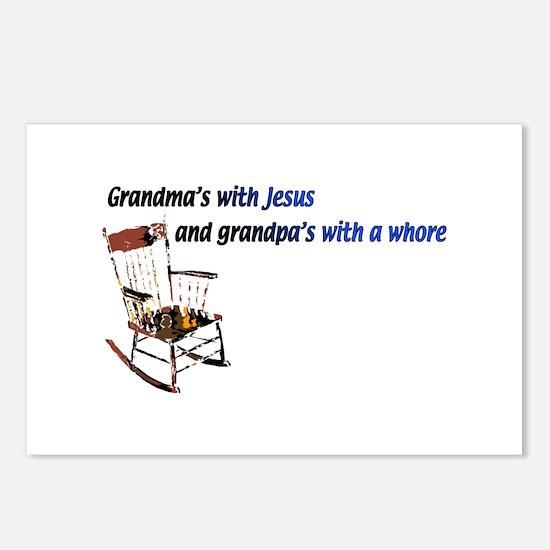 Grandma's with Jesus Postcards (Package of 8)