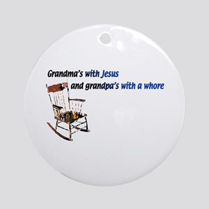 Grandma's with Jesus Ornament (Round)