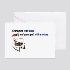 Grandma's with Jesus Greeting Card