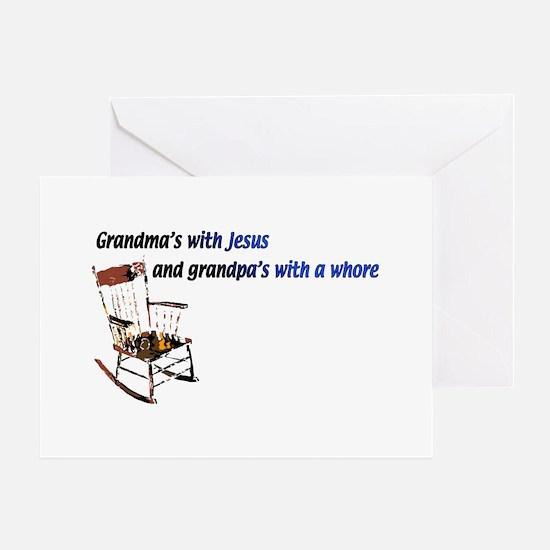 Grandma's with Jesus Greeting Card