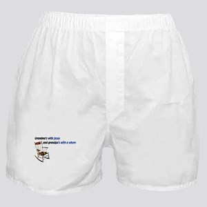 Grandma's with Jesus Boxer Shorts