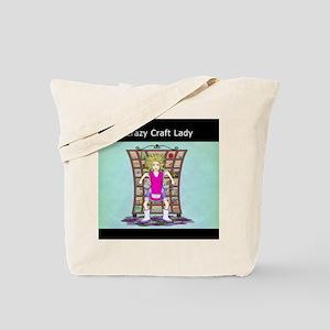Crazy Craft Lady Tote Bag