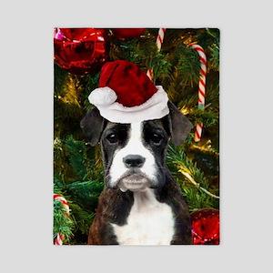 Christmas Boxer Dog Twin Duvet