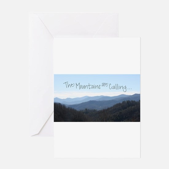 Mountains Calling Greeting Cards