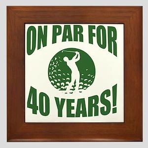 Golfer's 40th Birthday Framed Tile