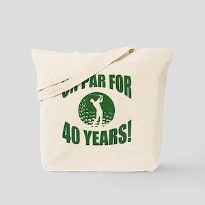 Golfer's 40th Birthday Tote Bag