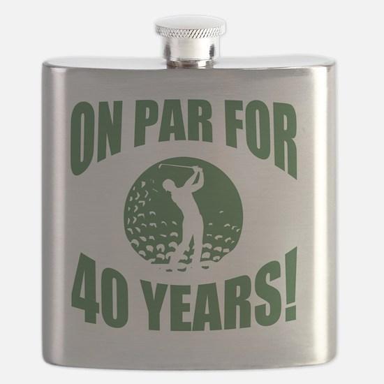 Golfer's 40th Birthday Flask