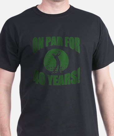 Golfer's 40th Birthday T-Shirt
