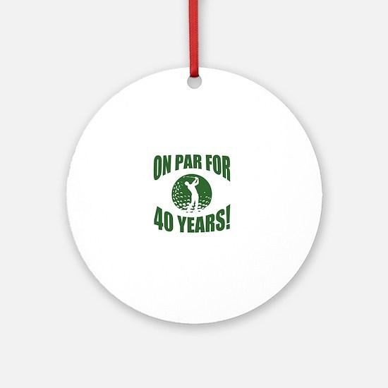 Golfer's 40th Birthday Round Ornament