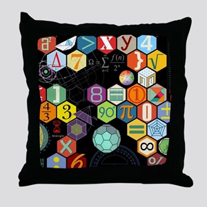 Math Black Throw Pillow