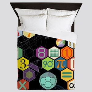 Math Black Queen Duvet