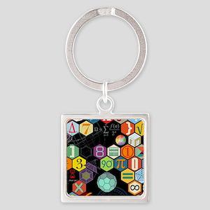 Math Black Square Keychain