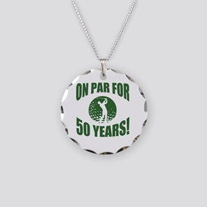 Golfer's 50th Birthday Necklace Circle Charm