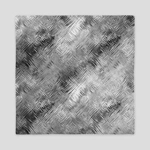 Grey Glass Pattern Queen Duvet