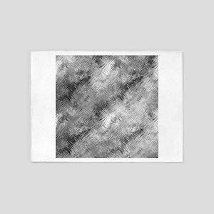 Grey Glass Pattern 5'x7'Area Rug