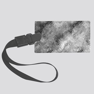 Grey Glass Pattern Large Luggage Tag