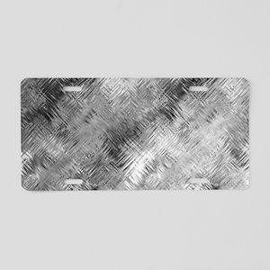 Grey Glass Pattern Aluminum License Plate