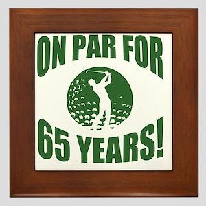 Golfer's 65th Birthday Framed Tile