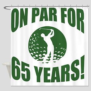 Golfer's 65th Birthday Shower Curtain