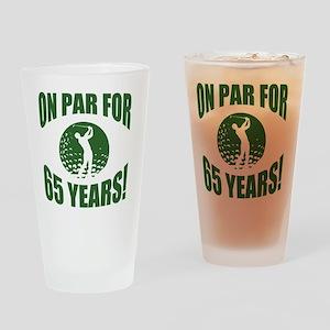 Golfer's 65th Birthday Drinking Glass