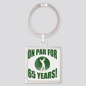 Golfer's 65th Birthday Square Keychain