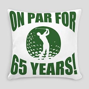 Golfer's 65th Birthday Everyday Pillow