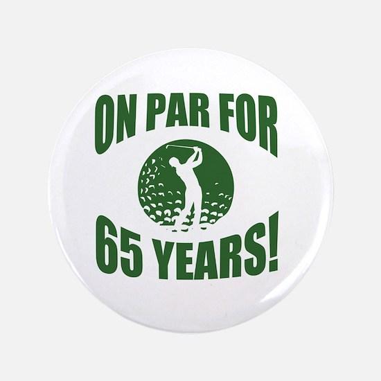 Golfer's 65th Birthday Button