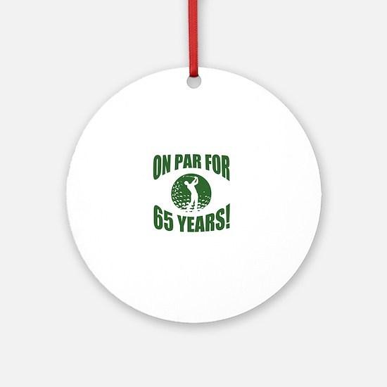 Golfer's 65th Birthday Round Ornament