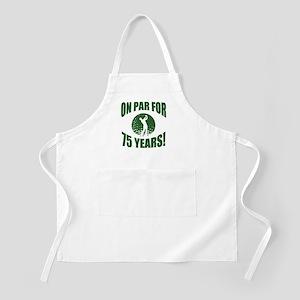 Golfer's 75th Birthday Apron