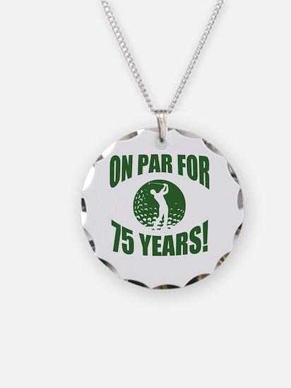 Golfer's 75th Birthday Necklace