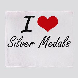I Love Silver Medals Throw Blanket