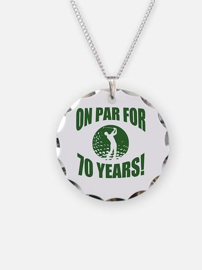 Golfer's 70th Birthday Necklace