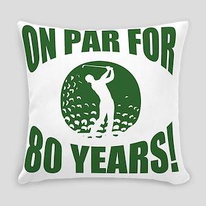 Golfer's 80th Birthday Everyday Pillow
