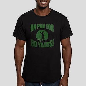 Golfer's 80th Birthday Men's Fitted T-Shirt (dark)