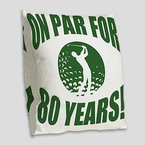 Golfer's 80th Birthday Burlap Throw Pillow