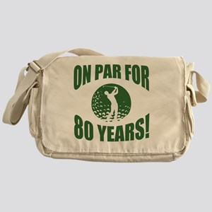 Golfer's 80th Birthday Messenger Bag