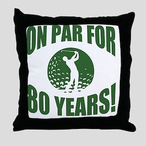 Golfer's 80th Birthday Throw Pillow