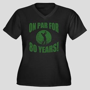 Golfer's 80t Women's Plus Size V-Neck Dark T-Shirt