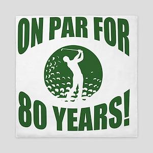 Golfer's 80th Birthday Queen Duvet