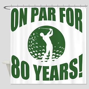 Golfer's 80th Birthday Shower Curtain