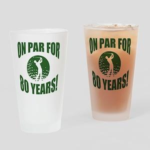 Golfer's 80th Birthday Drinking Glass