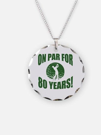 Golfer's 80th Birthday Necklace